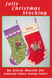 Jolly Christmas Stocking by Aileen Woerth