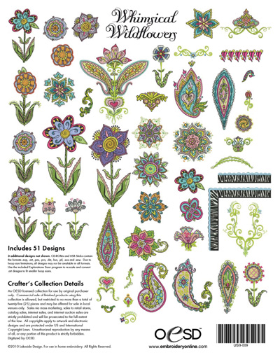 Whimsical Wildflowers Embroidery Designs Temecula Valley Sewing Center
