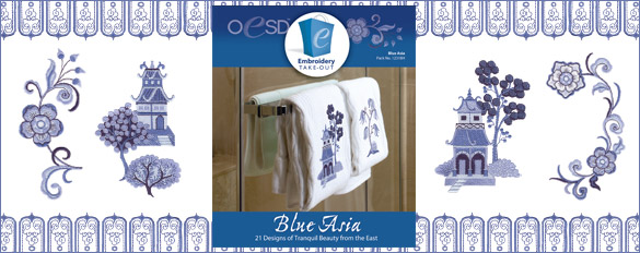 Blue Asia Embroidery Design Collection