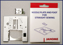 Janome Straight Stitch Plate with Straight Stitch Foot