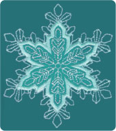 Winter appliqué embroidery designs