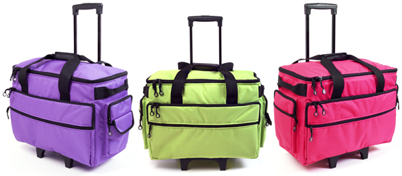 Wheeled Trolleys In BRIGHT Solid Colors Temecula Valley Sewing Center Magnificent Sewing Machine Bags On Wheels