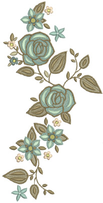 Divine Flowers & Vines Embroidery Design