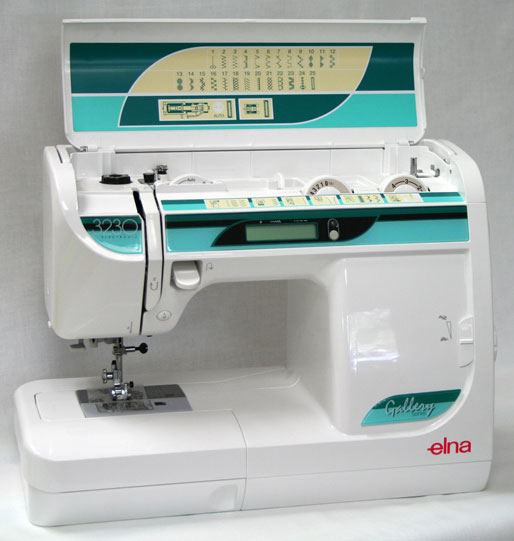 Elna 3230 Sewing Machine Open