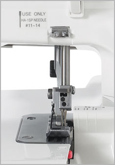 Janome 8002D Needle Plate Area