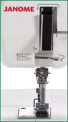 Janome CoverPro 900CPX Needle Plate Area