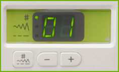 Janome DC2012 Controls and LCD