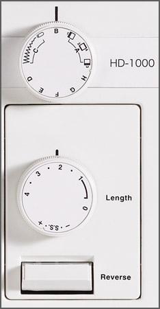 Janome HD1000 Controls