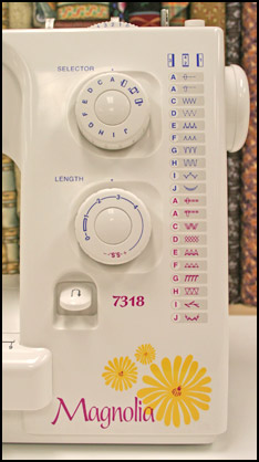 Janome Magnolia 7318 Machine Interface