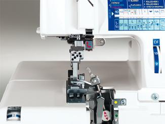 Elna 745 Serger Sewing Area
