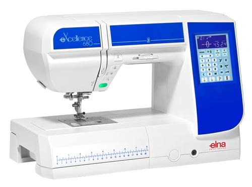 Elna eXcellence 680 Sewing Machine Angled View