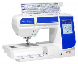 Elna eXcellence 680 Sewing Machine Angled View Open