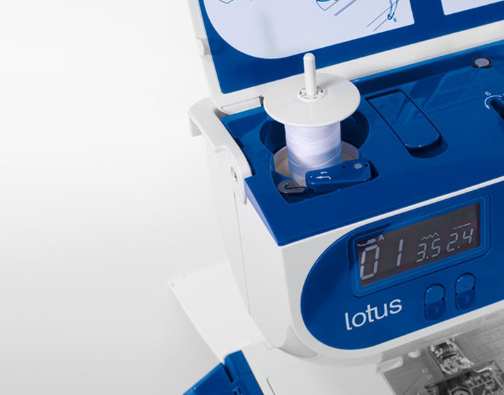 Elna Lotus Sewing Machine - Pop Up Spool