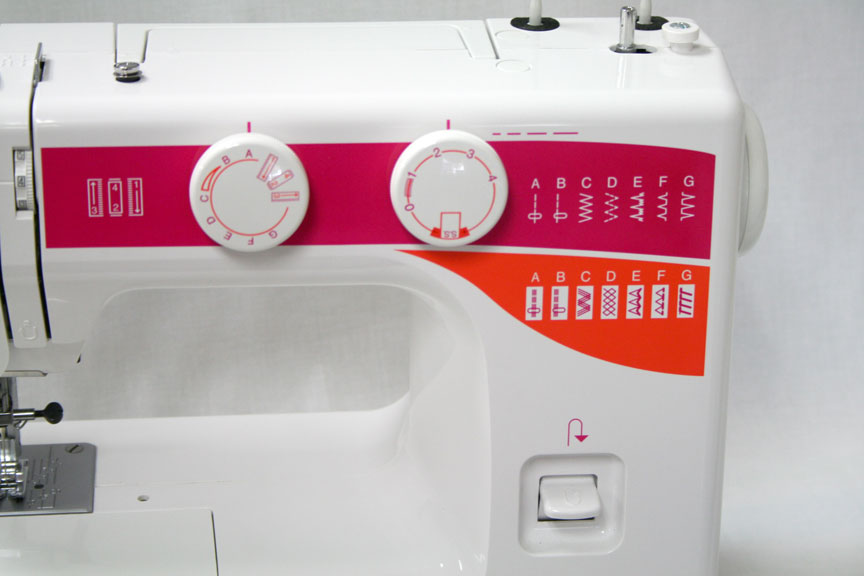 Elna Sew Fun Sewing Machine Controls and Stitch Package