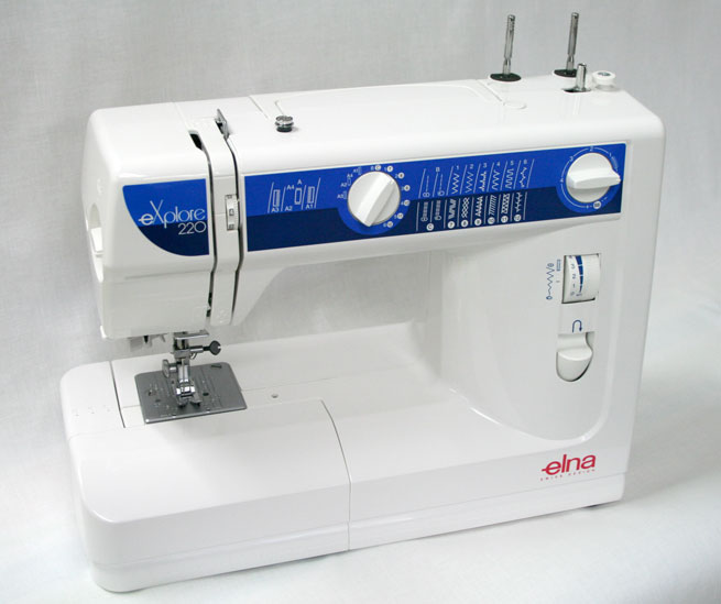Elna eXplore 220 Sewing Machine - Angled View