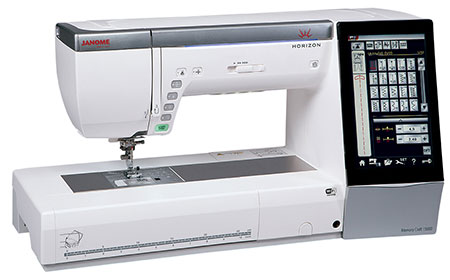 Janome Horizon Memory Craft 15000 Sewing & Embroidery Machine - Angled View 2