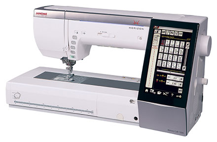 Janome Horizon Memory Craft 15000 Sewing & Embroidery Machine - Angled View