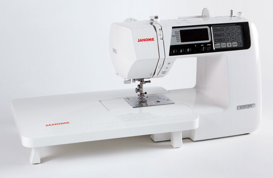 Janome 4120QDC Sewing Machine with Slide Table