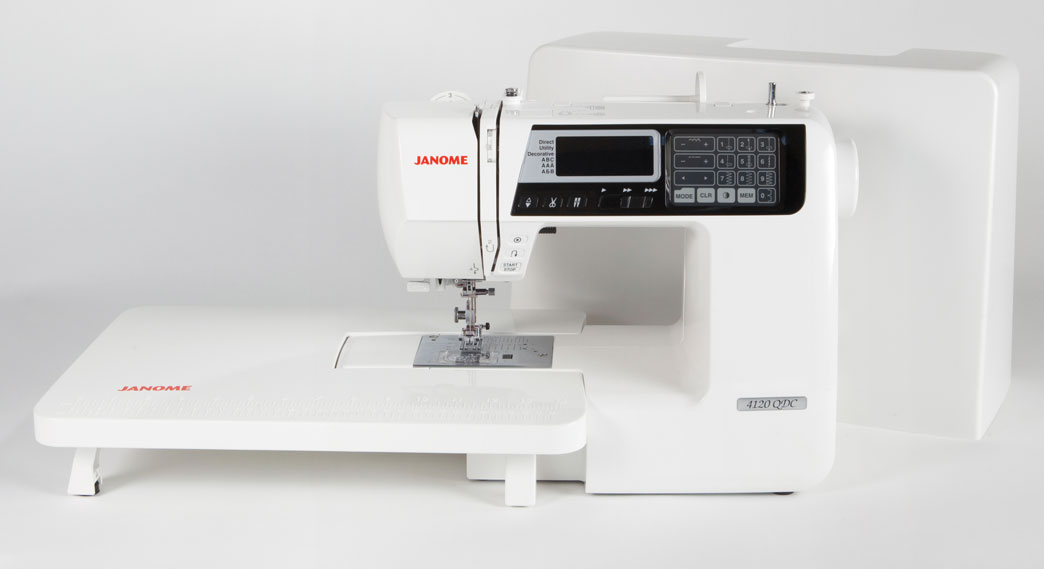 Janome 4120QDC Sewing Machine with Table and Cover
