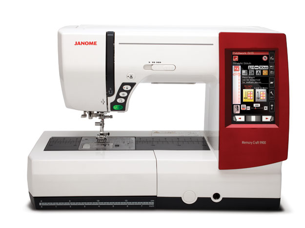 Janome Memory Craft 9900 Sewing and Embroidery Machine - Red