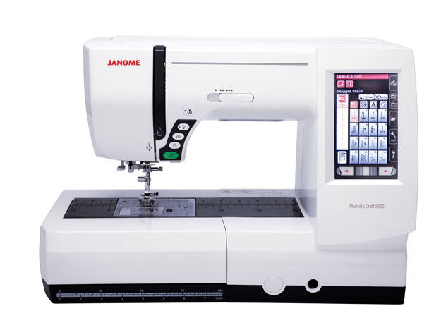 Janome Memory Craft 9900 Sewing and Embroidery Machine - White