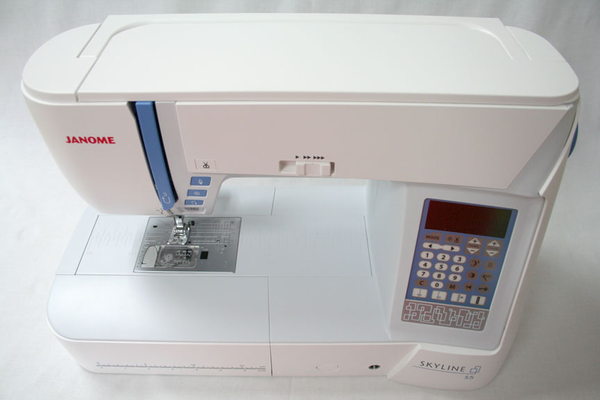 Janome Skyline S5 Sewing Machine - Overhead Shot