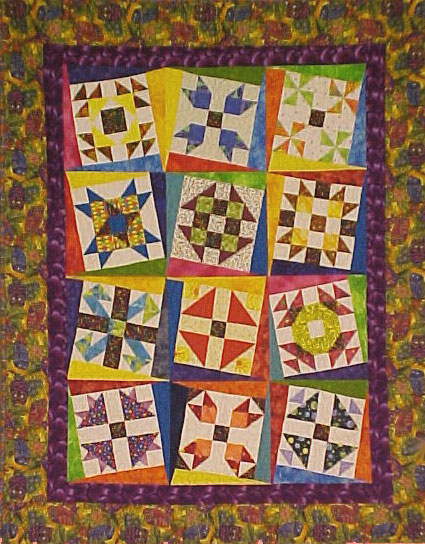 Twisted Sampler Blocks Quilt Pattern