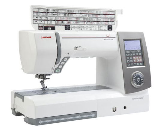Janome 8900QCP Sewing Machine - Open Top - Angled View