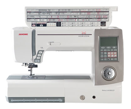 Janome 8900QCP Sewing Machine - Open Top