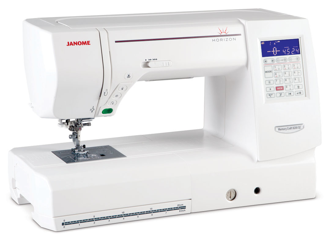 Janome Horizon Memory Craft 8200 QC Sewing Machine + Bonus