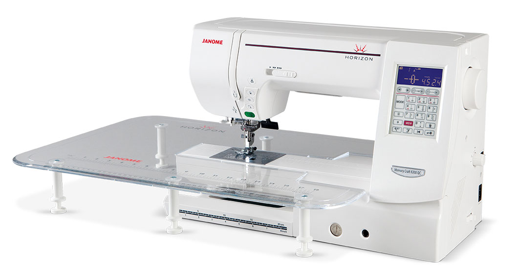 Janome Horizon 8200 QC Sewing Machine - With Slide Table
