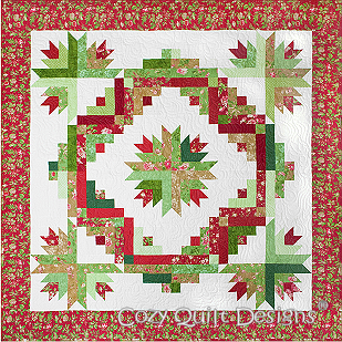 Cactus Wreath Quilt by Cozy Quilt Designs