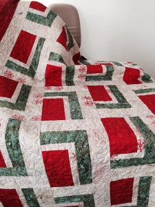 Christmas Quilt Before Using Carbona Color Run Remover