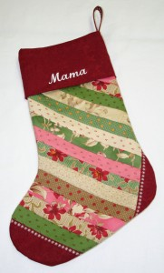 Jolly Christmas Stocking No Embroidery - Large