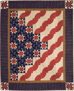 Fons & Porter Stars and Stripes Quilt