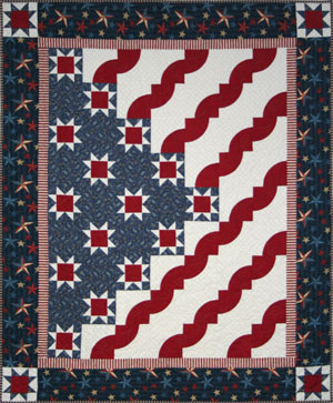 Stars and Stripes Quilt by Aileen Woerth
