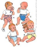 Kwik Sew 2062 Sewing Pattern, Baby & Toddler Diapers, Diaper Cover Size S, M, L, XL (0 to 18 Mos)
