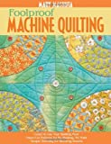 Foolproof Machine Quilting by Mary Mashuta (2008-09-30)